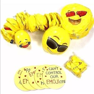 Lot 77 Emoji Party Supplies Inflatable Balls